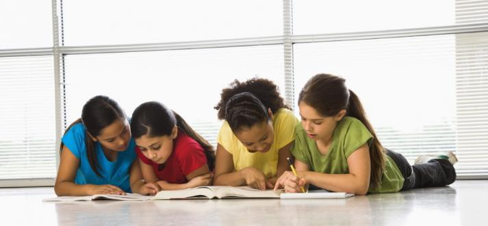Stock photo children reading