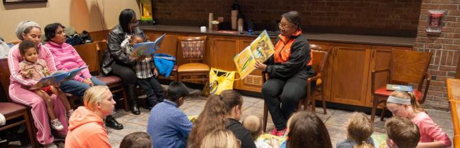 President Conway-Turner reading at GBH